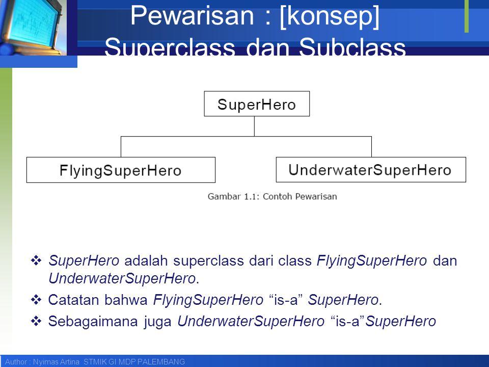 Pewarisan : [konsep] Superclass dan Subclass